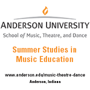 Anderson University Summer Studies in Music Education